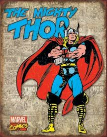 Thor - Retro Cover | Comic Book and Super Heroes Signs | Tin Signs | Wall Decor | Pictures | Art | Pictures Frames and More | Winnipeg | Manitoba | MB | Canada Wall Decor Pictures, Art Pictures, Tin Signs, Wall Signs, Thor, Comic Art, Comic Books, Plaque, Marvel Comics