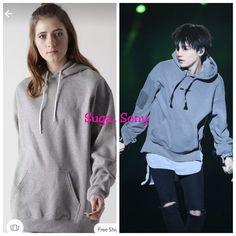 Suga inspired sweatshirt Long A Line, Hooded Jacket, Hoods, Forever 21, Bts, India, Inspired, Sweatshirts, Grey