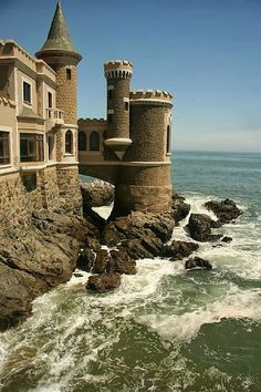 Castillo Wulff in Viña del Mar, Chile, once a house and converted into a castle, this 19th century castle is now a National Historical Monument in Chile.