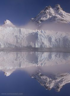 These beautiful photos are the work of Saul Santos Diaz. Although he digitally manipulates his work, he still catches the magic of Places Around The World, Around The Worlds, Beautiful World, Beautiful Places, Glacier, Argentina Travel, Argentina Patagonia, South America, State Parks