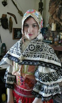 Europe: A Czech girl wearing traditional costume.