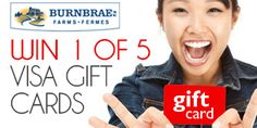 Win 1 of 5 $250 Visa Gift Cards *Contest Closes on Dec 1* http://free.ca/contests/250-00-visa-gift-cards/