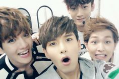 Super Junior Ryeowook, EXO Baekhyun and Chen & SHINee Onew