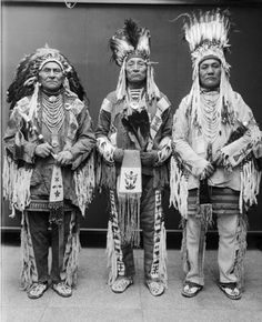 Three Blackfoot Chiefs. Native American Indians. by lpx