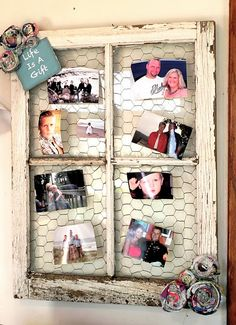 DIY Creative Ways to Repurpose and Reuse Old Windows as Picture Frames Old Window Decor, Old Window Frames, Window Panes, Barn Window Ideas, Window Pane Picture Frame, Diy Picture Frames Collage, Window Pane Crafts, Window Pane Pictures, Picture Walls
