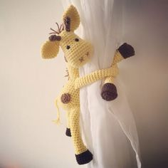 crochet curtain toy tie backs