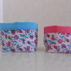 Paniers de rangement en tissu à fleurs