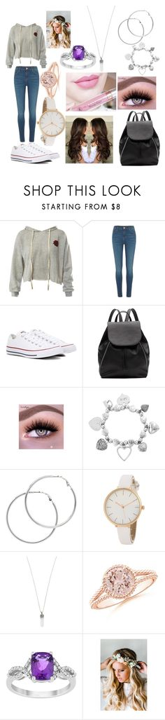 """""""Andrea Mikaelson"""" by andrea-fuentes-12 on Polyvore featuring Sans Souci, River Island, Converse, Witchery, Anastasia Beverly Hills, ChloBo, Melissa Odabash, Marc Jacobs and Emily Rose Flower Crowns"""