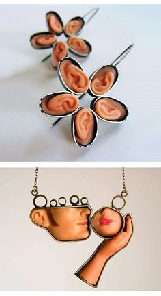 | strange jewelry | anatomy | doll parts |