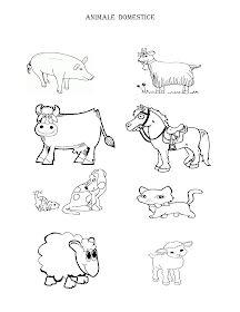 Fise de lucru - gradinita: IMAGINI de colorat cu animale DOMESTICE Dinosaurs Preschool, Cow Pictures, Animals And Pets, Kindergarten, Homeschool, Snoopy, Education, Comics, Blog