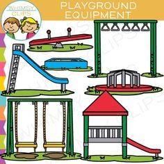 Playground equipment clip art that is great for sorting activities, building scenes and more. This playground equipment clipart set contains 14 image files, which includes 7 color images and 7 black & white images in png. All clipart images are 300dpi for better scaling and printing.The playground equipment clip art set includes:* Slide* Seesaw* Sandbox* Monkey bars* Swing* Merry-go-round* Jungle gymYou will receive:7 color png images7 black & white png imagesTerms of Use:  The clip ...