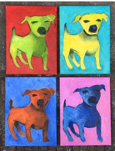 ' Happy Dogs' 40 x 30  Oil painting   Nelleke Alberti