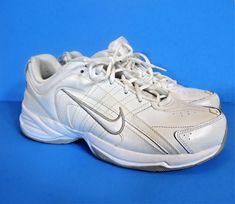 Nike T Lite VIII White Leather Training Running Shoes Women's Size US 11 UK  8.5
