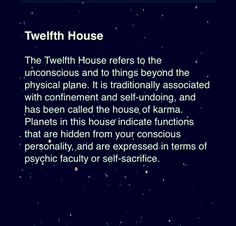 (12th house) (astrology)  https://www.facebook.com/TheZodiacZone