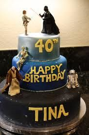 star wars cake - Do two layers