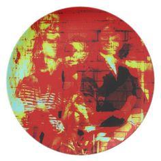 Ghosts From Days Gone Digital Art Collage Melamine Plate #plate #homedecor #kitchen #kitchenidea #collage #art #design
