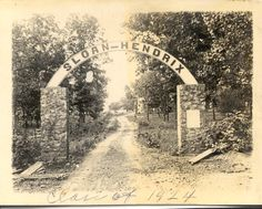 old Sloan Hendrix School entrance, Imboden, AR