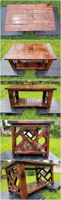 You will creatively be finding this wood pallet coffee table project as simple because it do comprise the stacking of the pallet planks over together on one another. It do add up the taste of the creative approaches effect that makes the whole project brilliant in the overall modish sort of coverage.