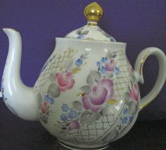 Russian Porcelain TEAPot HandPainted Old Russian by joyfool