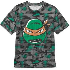 Teenage Mutant Ninja Turtles Boys Short Sleeve Poly Tee