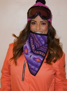 fleece lines bandana- great for snowboarding, skiing, and cold weather activities.