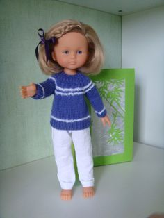 Un nouveau pull. Diy Projects To Try, Doll Patterns, I Dress, Doll Clothes, Blog, Comme, Dolls, Knitting, Doll Dresses