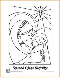 Stained Glass Nativity coloring page! Nativity Coloring Pages, Christmas Coloring Pages, Coloring Book Pages, Stained Glass Christmas, Faux Stained Glass, Stained Glass Patterns, Noel Christmas, Christmas Colors, Christmas Crafts