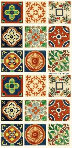 Ceramic (Especial) Tile in Terracota. There's a lot more, too. Click on the image to be directed to www.mexicantiledesigns.com