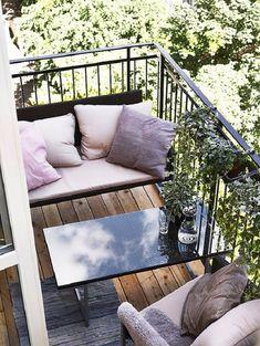 IDEAS PARA DECORAR BALCONES PEQUEÑOS. Balcones pequeños con diseño. #balconespequeños #ideas