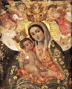 Madonna of Valverde, Santuario, Valverde ,Ct, Sicily. La tradizione la fa risalire all'apparizione della Beata Vergine a Dionisio, un feroce brigante che poco prima di compiere un efferato delitto si converte.