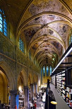 Once a church, today a library. Seen in Maastricht, Netherlands