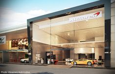 Wearnes Automotive's McLaren showroom.