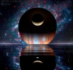 Cosmic Shores by jrtce1, via Flickr: A world of the imagination assembled from NASA and Hubble Space Telescope photos.