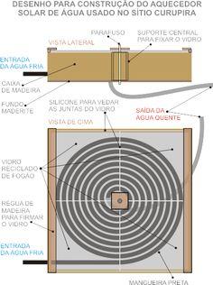 DESENHO AQUECEDOR solar de água
