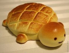 turtle made out of bread