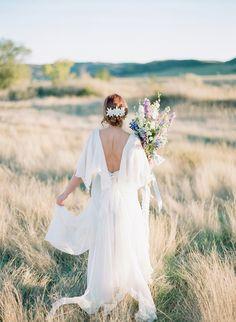 Organic Vintage Wedding Inspiration | Golden Veil Photography | North Dakota