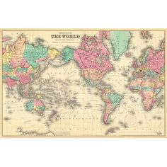 Swag Paper Colorful World Map Wall Mural & Reviews | Wayfair