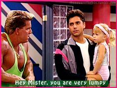 Forget everything else in this picture I'm 110% repining it because how hot Uncle Jesse is here. Love, love, love John Stamos!!!! So hot.