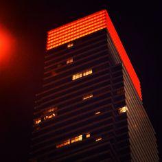 Bloomberg Bldg on Valentine's Night