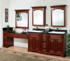 The Briarwood Modular Vanity Collection From Sunny Wood