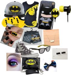 """batman inspired"" by livy1224 ❤ liked on Polyvore"