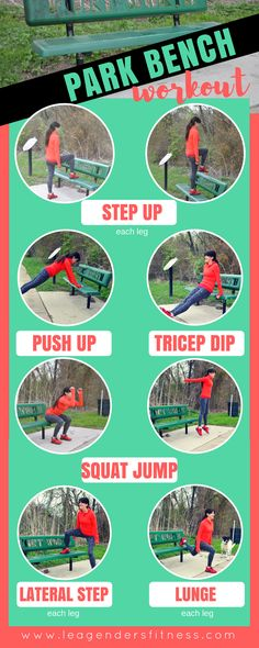 Park Bench Workout - save to your favorite Pinterest board