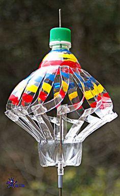 PET bottle windmills