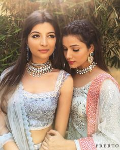 Pastels Have Our Heart  Winters and Weddings go hand in hand. This year sport pastels instead of deep tints and speak through your accessories. We're armed for the upcoming season are you?  //  : @dollyouup_bys // #Bridesmaids #Love #Wedding #Fashion #Jewelry #MustHave #IndianWedding #BestFriend #Necklace #Choker #Prerto