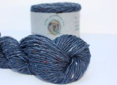 Spinning Yarns Weaving Tales -  Breidin 713 Denim Blue 100% Wool Aran weight Yarn for Knitting, Crochet, Felting, Warp & Weft