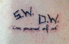 Supernatural Tattoo I'm Proud Of Us SW DW