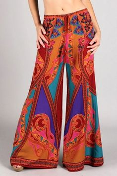 Comfy beautiful paisley print palazzo is the bomb! Don't miss out on it. Comes in different print!