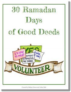 30 Ramadan Good Deeds Coloring Book only on muslimommy.com