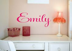 Childrens Wall Decal  Name Wall Decal  Custom Monogram by LucyLews