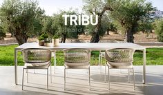 Tribù Contour collection: armchairs, lounge chairs and sofas for outdoor